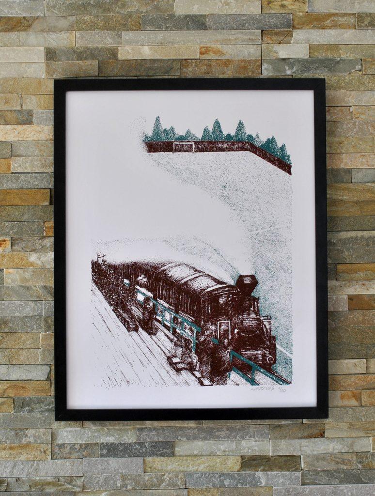 Sérigraphie train slovaquie TJ Tatran Čierny Balog anthony galerneau