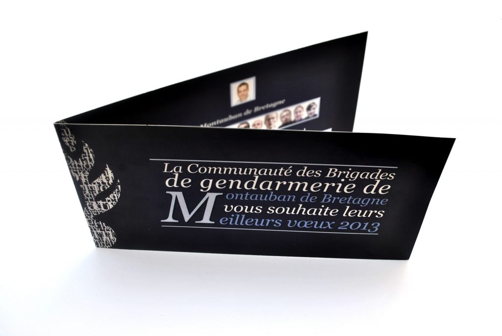 carte de voeux gendarmerie graphisme anthony galerneau