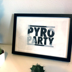 dessin original no pyro no party, anthony galerneau