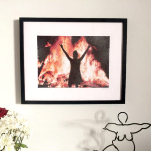 Fire anthony galerneau dessin original pointillisme